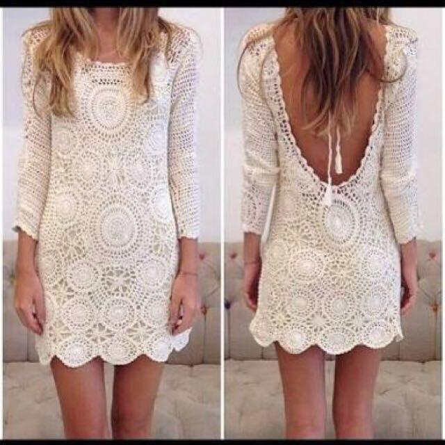 SPELL Havana Crochet Mini Dress