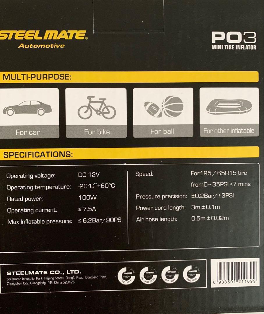 Steelmate P03 Tire inflator (LIMITED STOCKS LEFT!!!)
