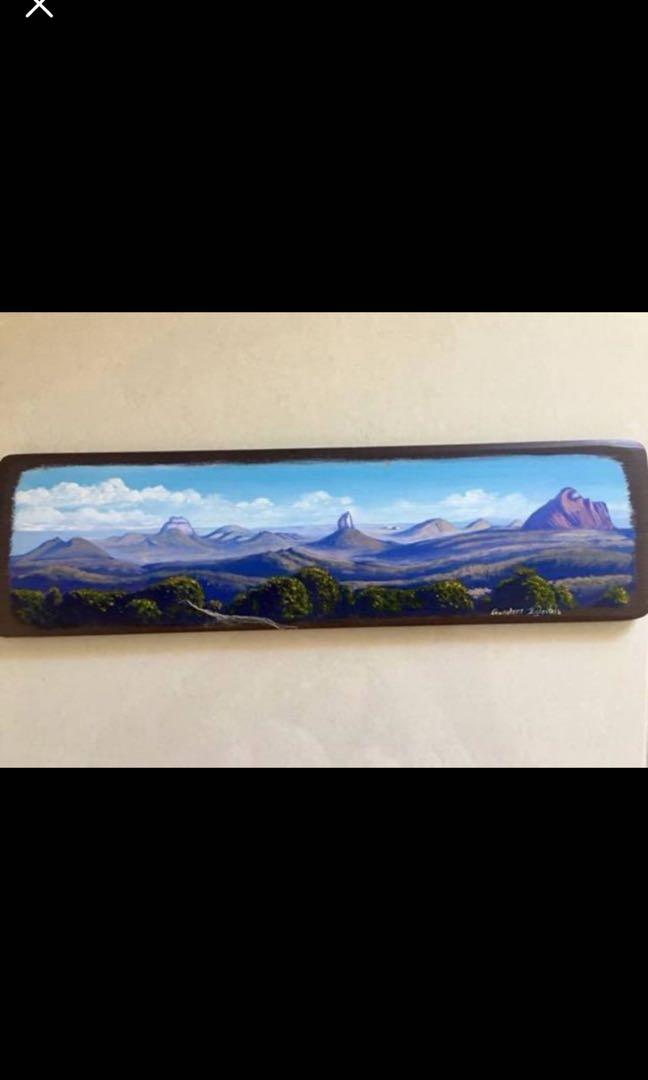 Stunning Gundars Eglentals Glasshouse Mountains painting