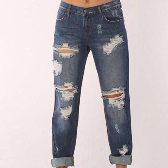 Thrills Co. Mid Waist Denim Jeans