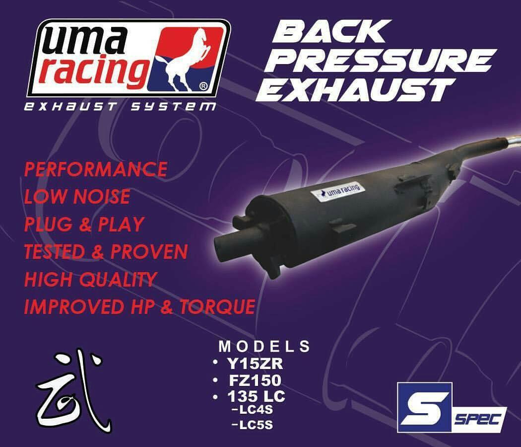 UMA RACING EXHAUST (Y15ZR), Motorbikes, Motorbike