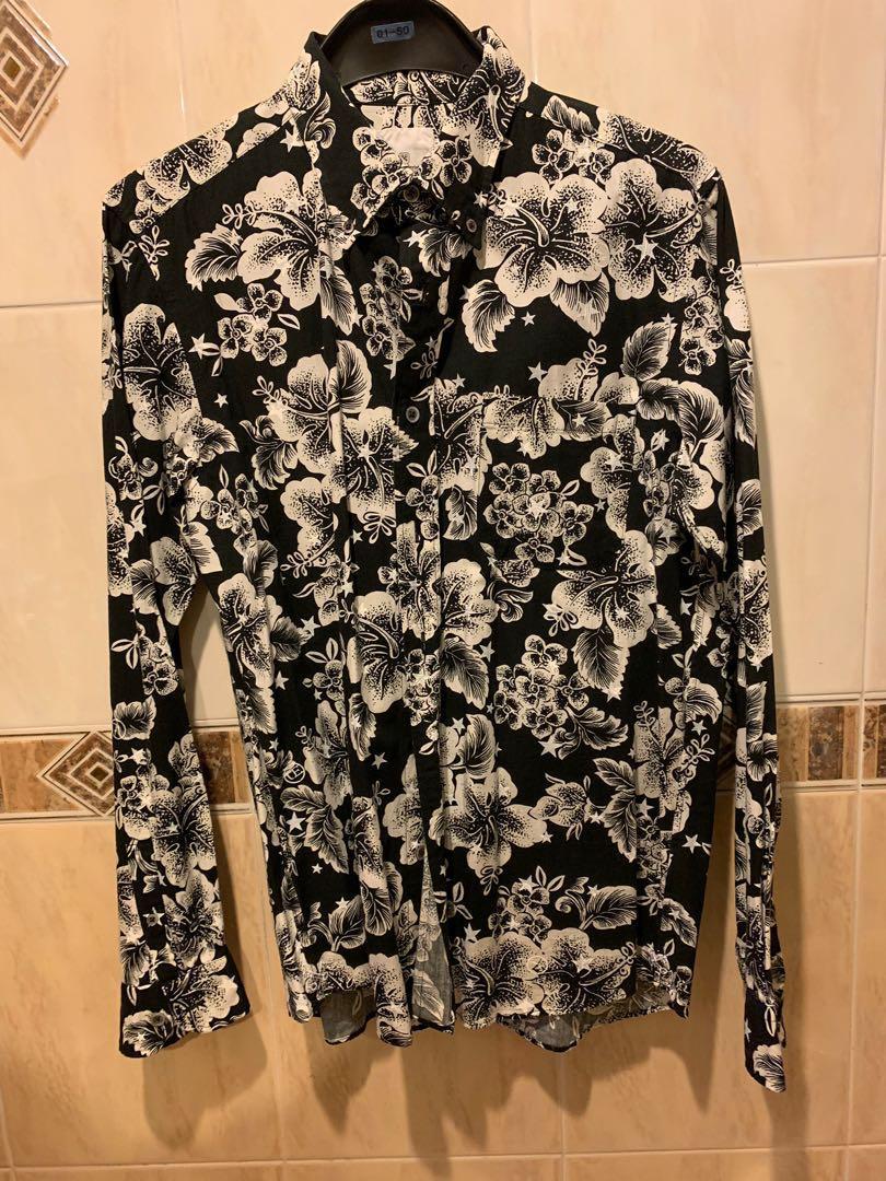 Uniform Experiment UE floral over print shirt size 2