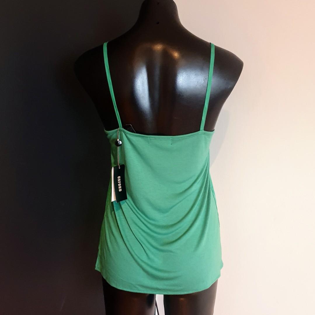 Women's size 6 'OXFORD' Stunning green jersey back cami - BNWT