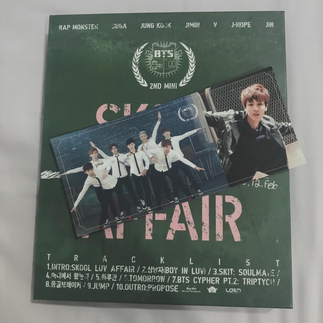 wts BTS SKOOL LUV AFFAIR album with seokjin photocard