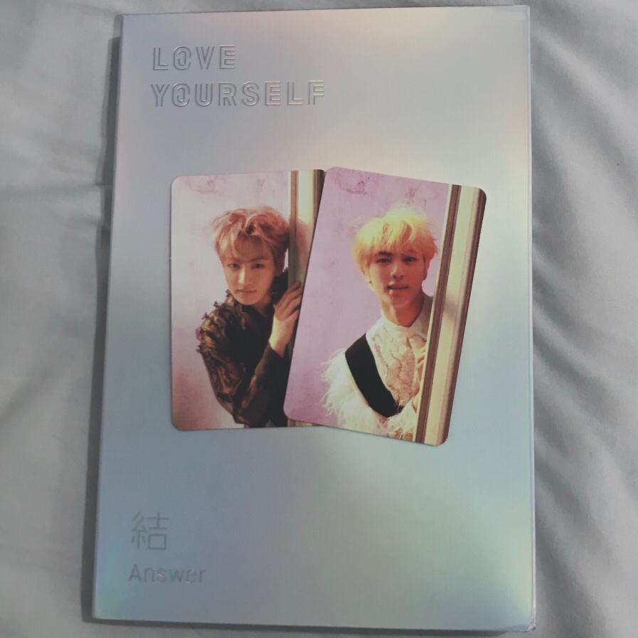 wts fast! bts answer album E version with jungkook or seokjin photocard