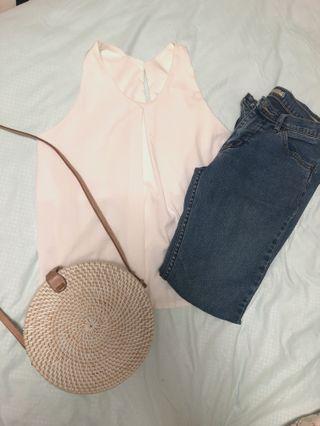 🚚 White Basic Top