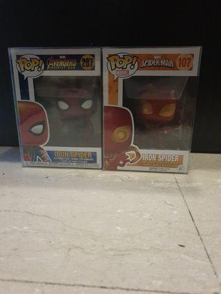 🚚 Funko POP! Infinity War Iron Spider and Spider-Man Iron Spider