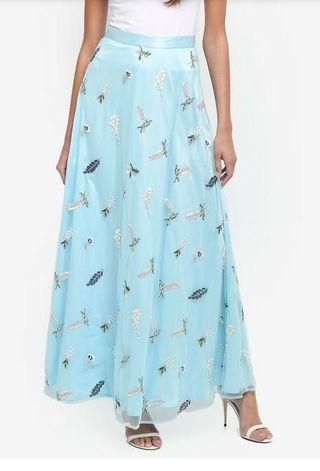 Bysi embroidered maxi skirt