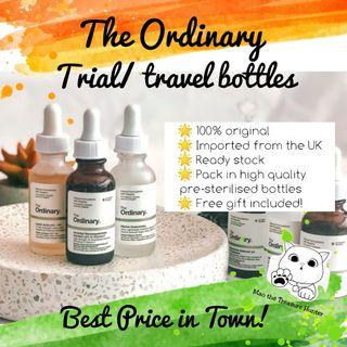 The Ordinary Trial / Travel bottles