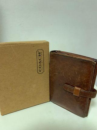 Coach leather wallet/clutch