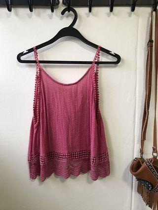 🚚 Urban Outfitters Pink Boho Cami