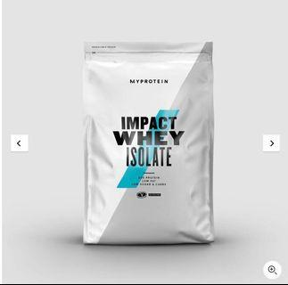 🚚 Myprotein impact isolate 分離乳清蛋白 英式奶茶口味 1kg(預購)