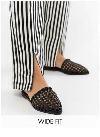 🚚 ASOS Wide Feet Woven Mules