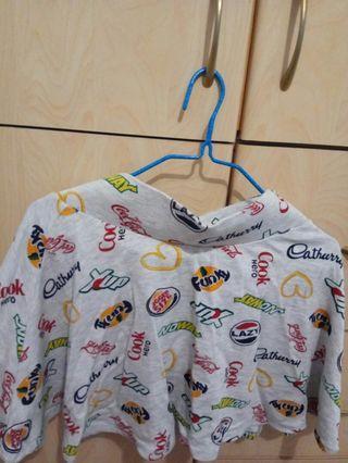 Forever 21 logo skirt