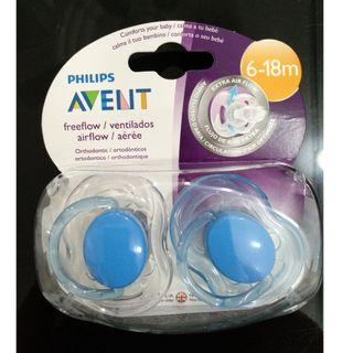 Philips Avent Freeflow Soothers 6-18M (Blue) 2 pcs