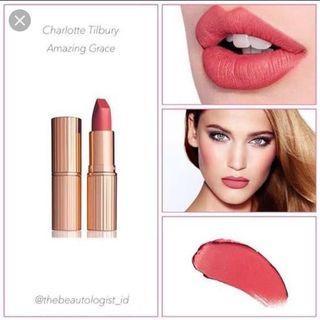 Charlotte tilbury lipstick shade amazing grace original 100%