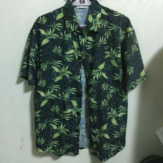 熱帶植物草短袖襯衫🌿