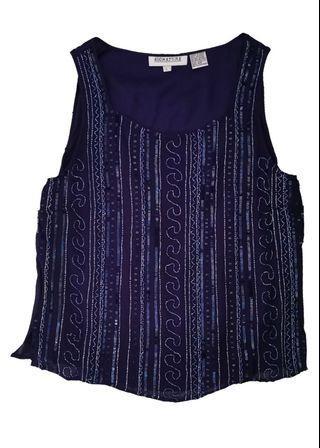 🚚 SIGNATURE sequin top in navy blue