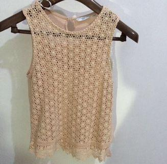 New look lace peach top