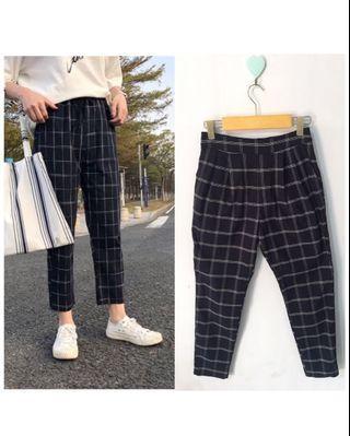 Tartan Pants impor korea