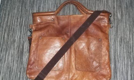 H&M Vintage Leather Bag (Zip defect)