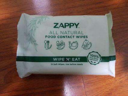 Zappy All Natural Food Contact Wet Wipes