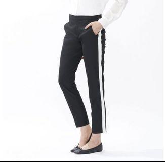 WOMEN Side Stripe Ankle Length Pants Uniqlo