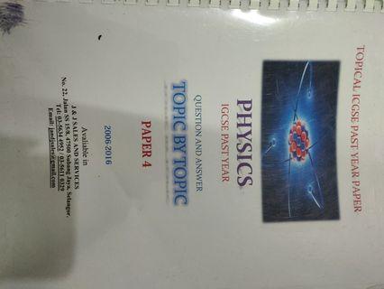 Physics past paper IGCSE