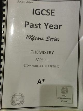 2*Chemistry past papers(1&3) IGCSE o level