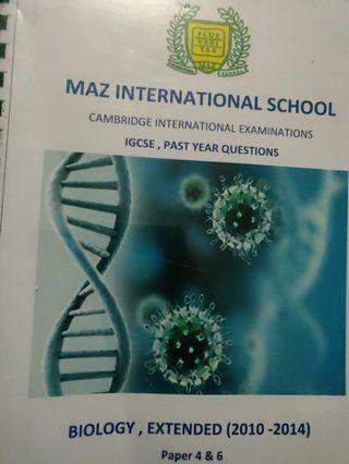 Biology past paper IGCSE
