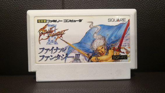 Final Fantasy III 3 太空戰士 最終幻想 NES FC Nintendo Famicom Game 任天堂 紅白機 遊戲帶