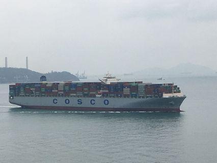 香港貨櫃船相片一套8張