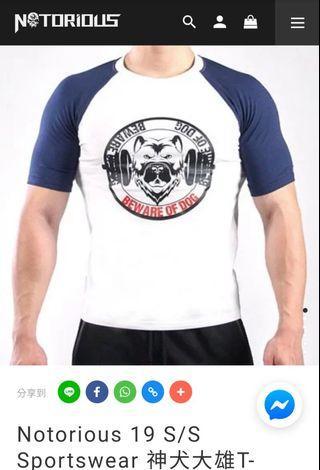 🚚 【全新】轉賣惡名昭彰Notorious🌸Notorious 19 S/S Sportswear 神犬大雄T-Shirt
