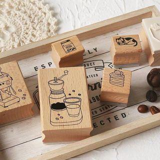 Coffee wooden stamp