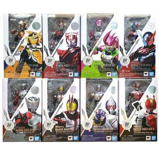 [YH]全新現貨 全套8隻 S.H.Figuarts SHF Kamen Rider 20 th 週年連地台版 幪面超人 Bandai Ex-aid Build