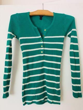 J CREW waffle knit shirt XXS