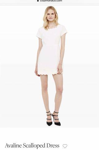 Club Monaco Avaline Scalloped Dress