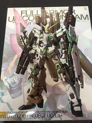 🚚 萬代 BANDAI 鋼彈 獨角獸 重裝備MOBILE SUIT RX-0 1/100