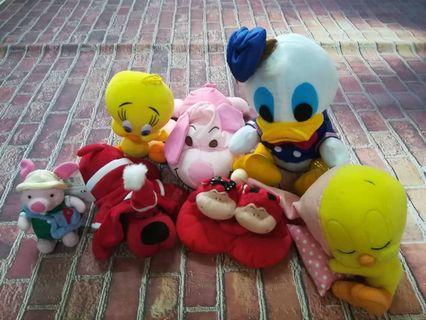 Set Of 7 Soft Toys