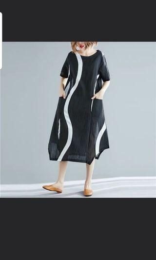 Dress with abstract print - plus size