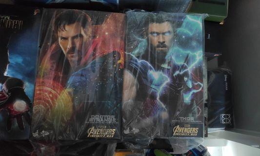 Hottoys Thor & Dr Strange bnib Marvel Avengers Infinity War 1/6 figure MMS 484 474