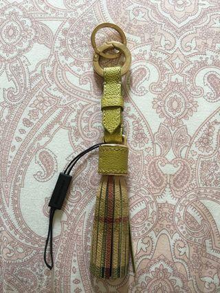 Authentic BURBERRY Tassel Keychain