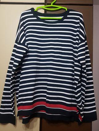 Plus size-BN Striped Sweater (1)