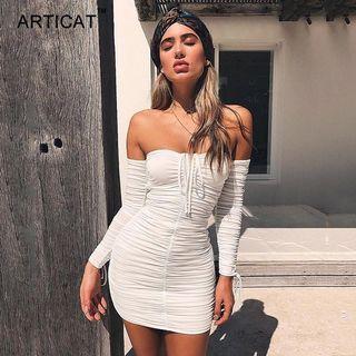 Scrunch Long Sleeve Dress
