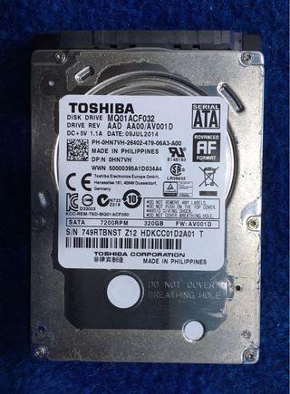 """Toshiba 2.5"""" HDD 320GB"""