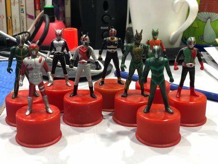 Kamen rider toy| masked rider bottle cap Bandai collection action figures
