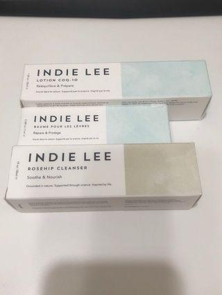 INDIE LEE set / Lip Treat,CoQ-10 Toner,Rosehip Cleanser
