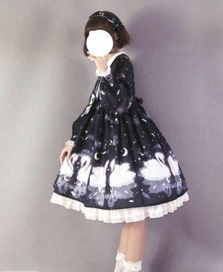 Authentic Black Swan Lolita OP Dress [Dream Seller]