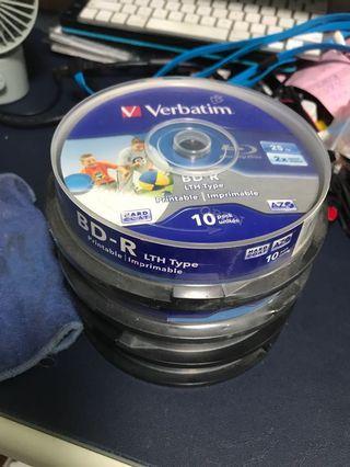 Verbatim Blu-ray BDR 25GB 4 pack