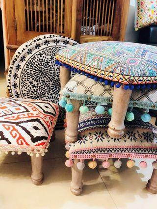 Hand made stool/ footrest / kids chair from india new